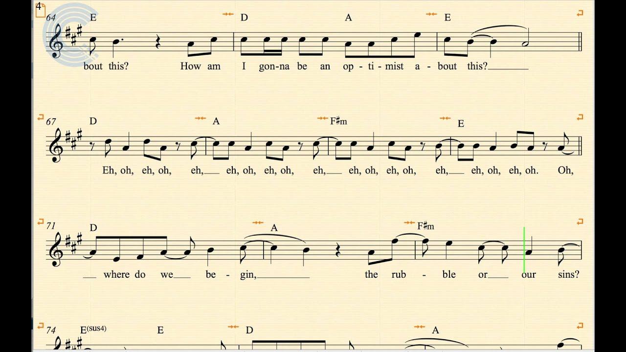 Violin - Pompeii - Bastille - Sheet Music, Chords, u0026 Vocals - YouTube