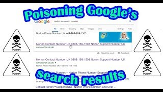 Poisoning Google's search results