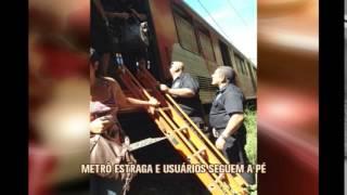 Trem apresenta problemas no metr� de BH e passageiros desembarcam nos trilhos