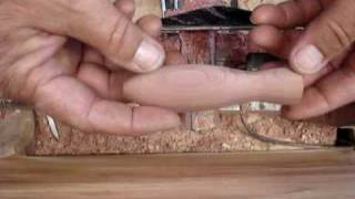 Center Drilling Wooden Lure For Through Wire Construction