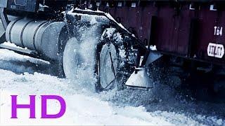 Conduciendo camiones en la nieve