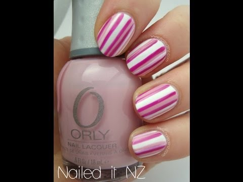 Striped nail art tutorial for beginners!