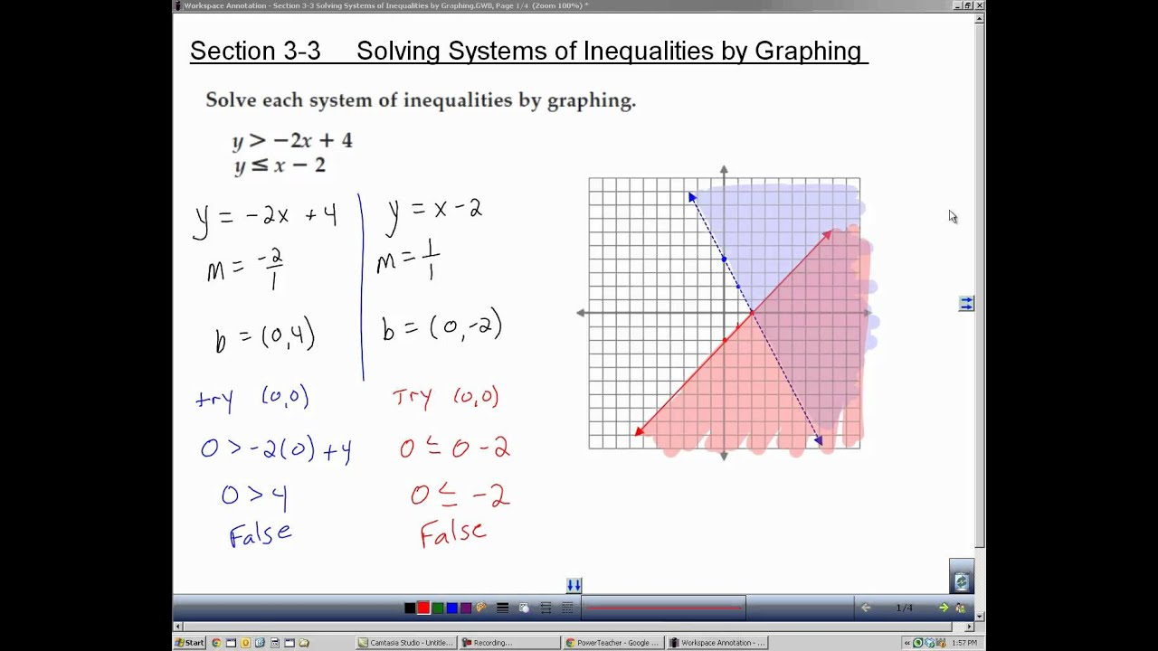 algebra 2 section 3 3 solving systems of inequalities by graphing youtube. Black Bedroom Furniture Sets. Home Design Ideas