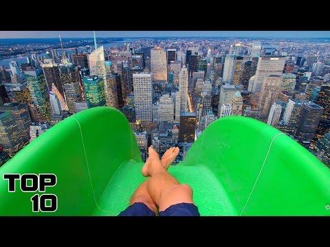 Top 10 Crazy Illegal Water Slides
