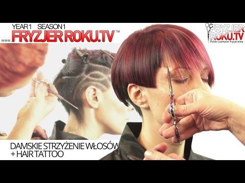 Damskie strzyżenie włosów + HAIR TATTOO FryzjerRoku.tv