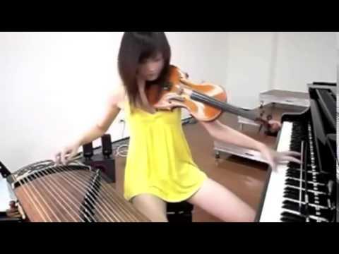 Cô gái chơi 3 nhạc cụ cực hay