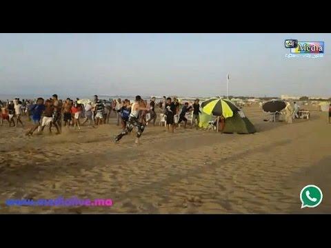بالفيديو : السيبة بشاطئ المركز بالمحمدية ... اعتداء على 3 شرطيين بالضرب