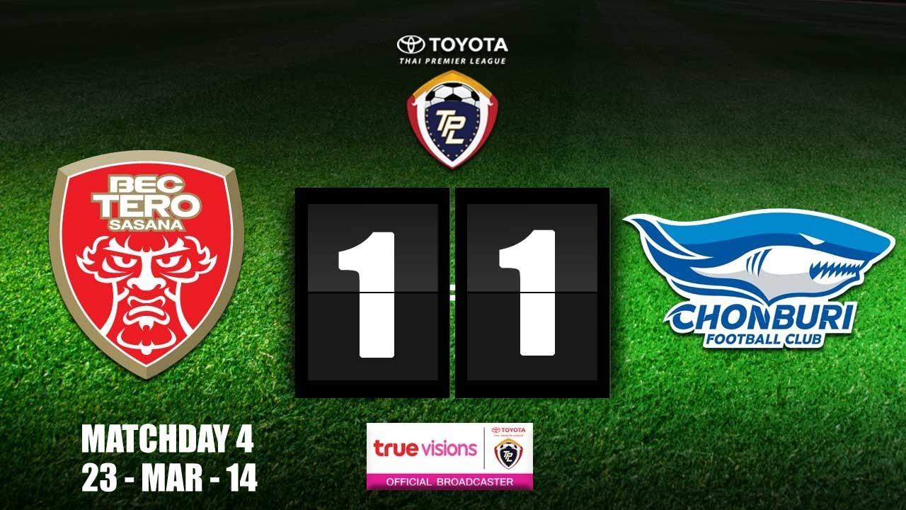 BEC Tero Sasana 1-1 Chonburi Shark FC