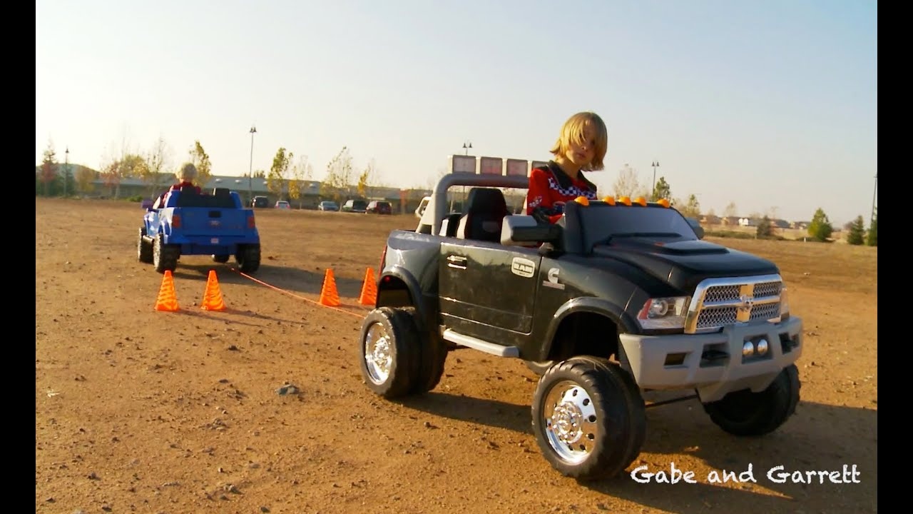 power wheels tug of war 1 ford f 150 vs dodge ram youtube. Cars Review. Best American Auto & Cars Review
