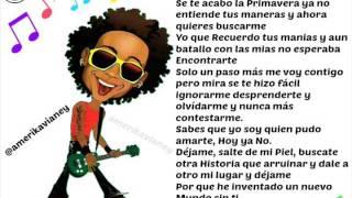 "Kalimba ""Un Nuevo Mundo Sin Ti"" Con Letra"