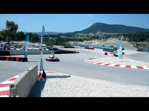 Lewis Hamilton karting in Barcelona ahead of the 2014 Spanish GP