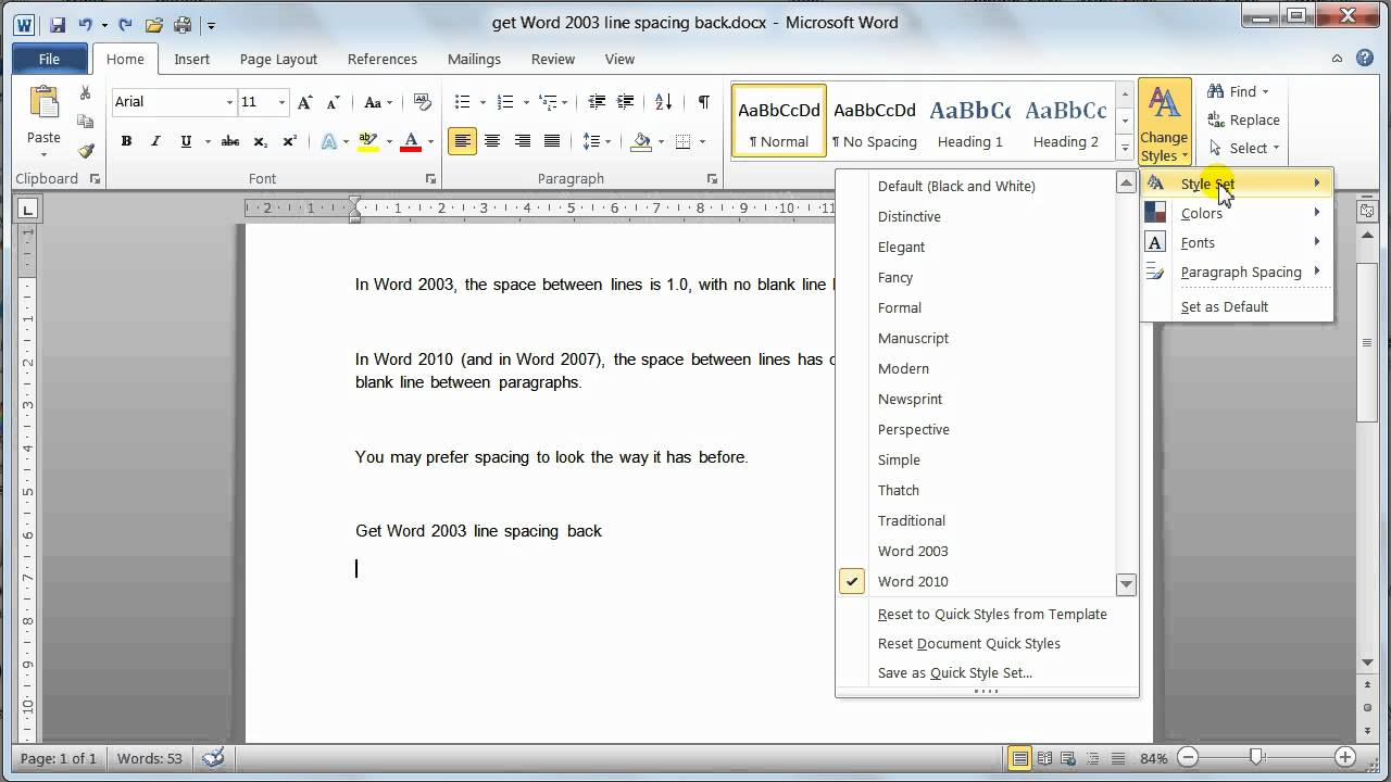 Normal Template For Word 2010