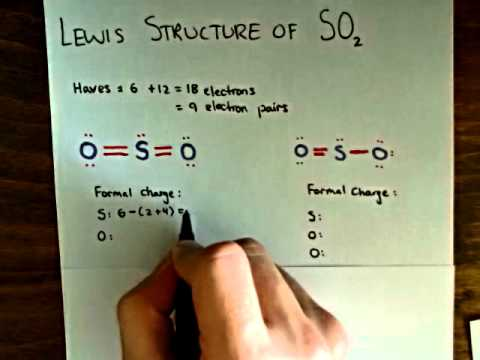 lewis dot structure for so2