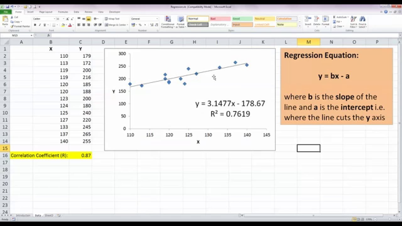 How To Do A Pivot Table In Excel >> How To... Perform Simple Linear Regression in Excel 2010 ...