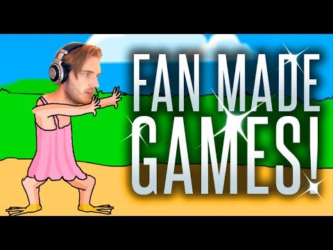 I PLAY FAN MADE GAMES! - PewDuckPie, PewDie Flap.