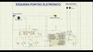 Simulação no Proteus do Portão Eletrônico view on youtube.com tube online.