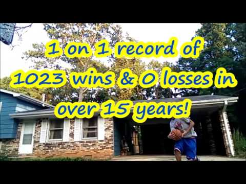 Amazing record! 1023 wins & no losses in 1 on 1 basketball