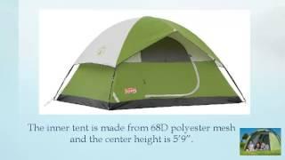 Coleman Sundome 4 Tent view on youtube.com tube online.