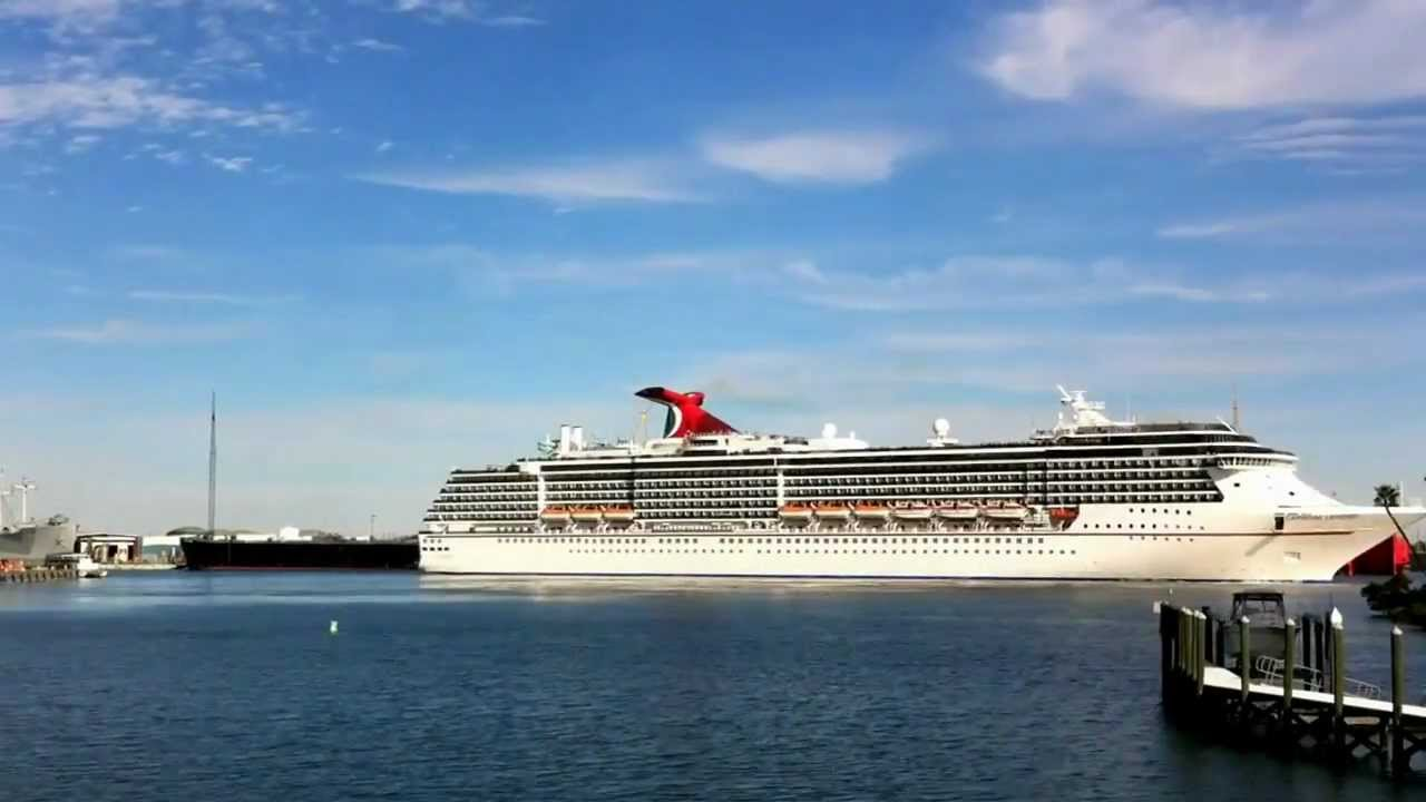 Cruise Ship Leaving Tampa FL - YouTube