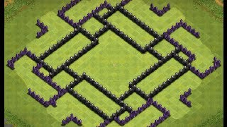 Clash Of Clans Town Hall 9 Base Build (hog Defense)