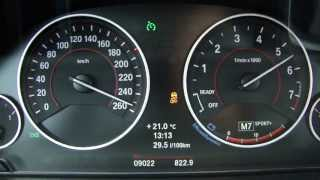 New BMW 328i Sport Touring F31 (2012) 0-258 Km/h
