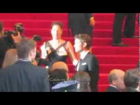 Chace Crawford waits his turn at the MET gala red carpet in NYC