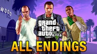 GTA 5 All Endings / Final Missions