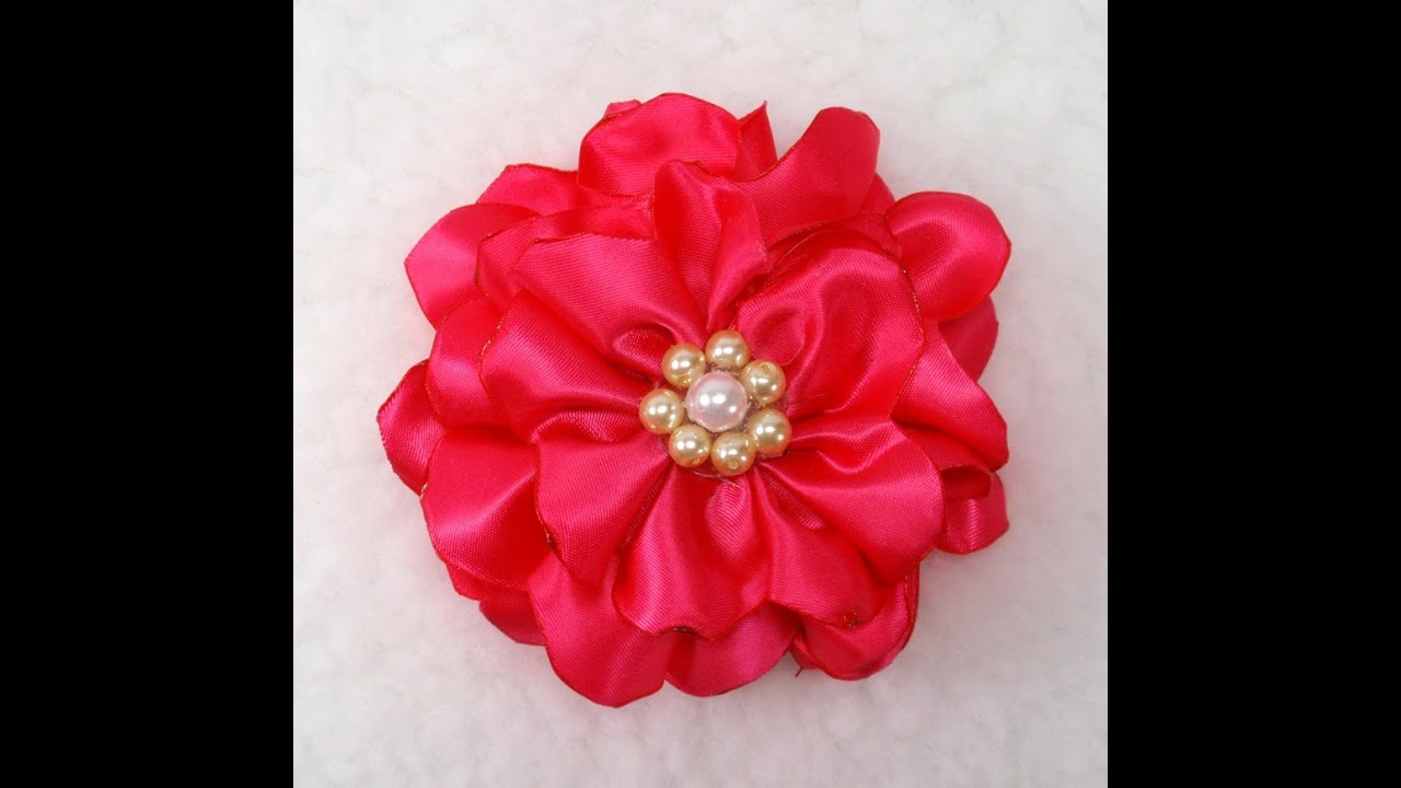 DIY Quick And Easy Fabric Flower Tutorial DIY How To Make