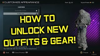 Ghosts: How To Unlock Gear & Outfits!