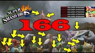 All 166 Characters So Far In Super Smash Bros 4!!