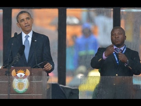 'Fake' Sign Language Interpreter at Mandela Memorial Hallucinated, Company Vanishes
