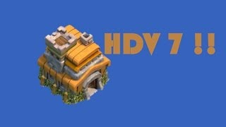 Idée Village HDV 7 Clash Of Clans !!