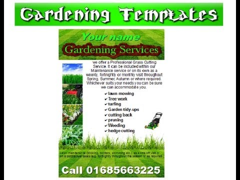Free open office flyer templates crawlinguuzj06 for Garden maintenance flyer template
