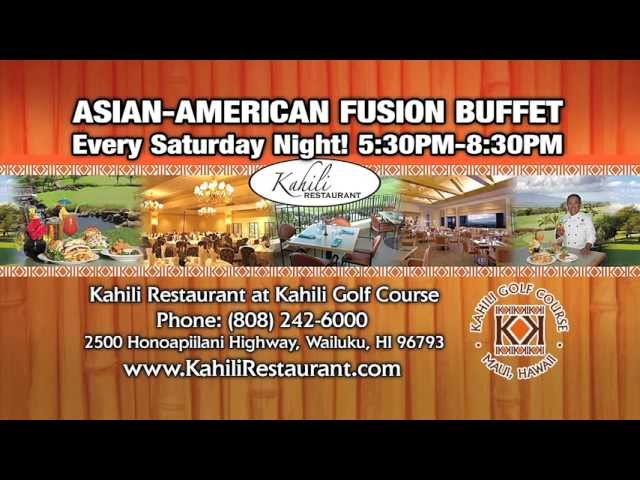 Kahili Restaurant's Asian-American Fusion Buffet - Maui Hawaii