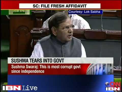 MIM chief Asaduddin Owaisi Slams JD(U) chief Sharad Yadav Over the Financial Bill 2013 in Parliament