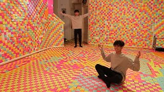 CRAZY STICKY NOTE PRANK ON FAMILY!