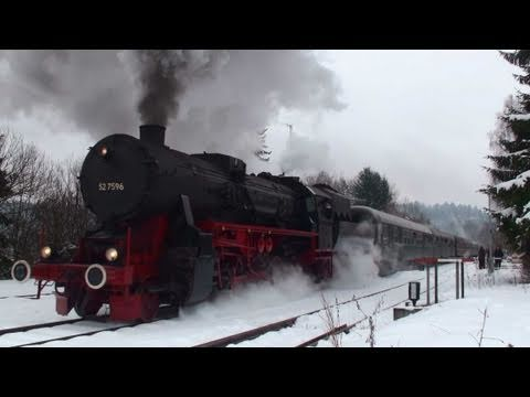 Fantastic Steam Show With 52 7596 Dampflok Sonderfahrt Steam Train Movie