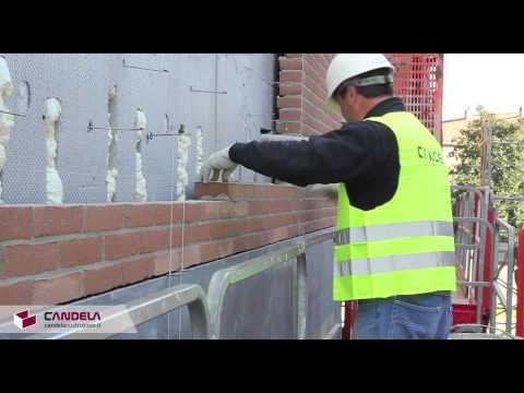 Posa di mattoni faccia a vista: facciate ventilate in muratura
