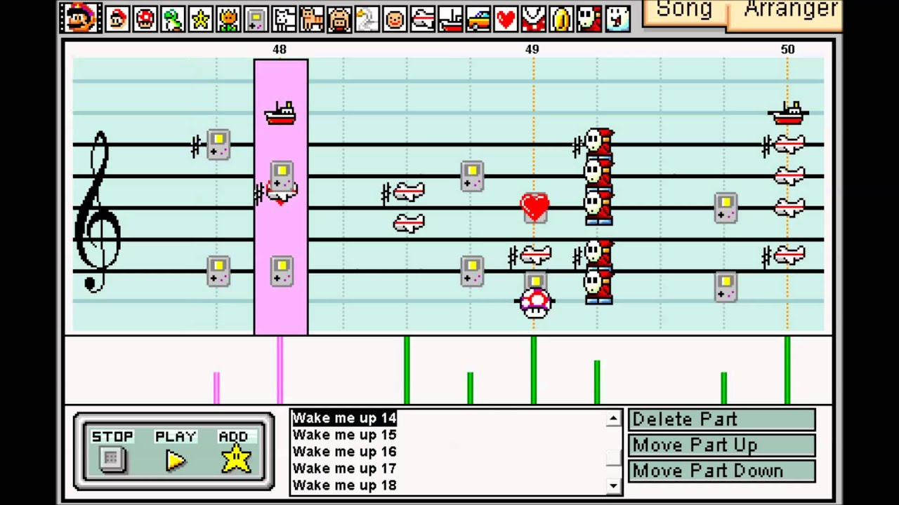 Play Mario Paint Composer