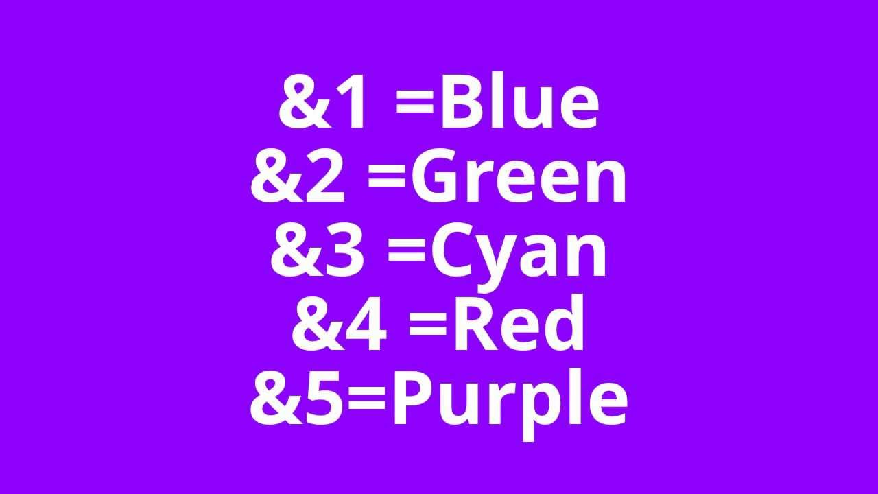 minecraft sign color codes youtube