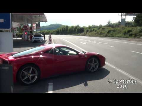 Ferrari 458 Italia sound - accelerations & fly-by's; 1080p HD