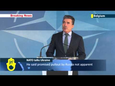 NATO foreign ministers talk Ukraine