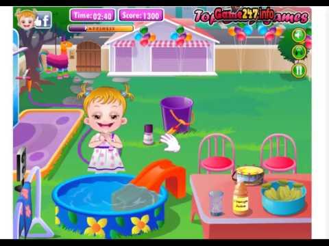 Game tre em game choi thu cung, cùng chơi game Baby Hazel In Preschool)