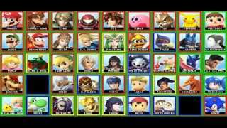 9TH Super Smash Bros. For 3DS/WiiU Character Roster