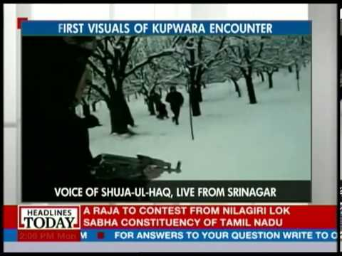 Visuals from the on-going Kupwara enounter