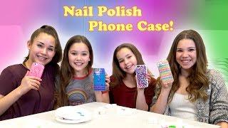 DIY Nail Polish Phone Case! (Haschak Sisters)
