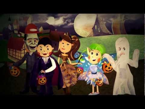 Princess Katie & Racer Steve Halloween Cartoon Song For Kids