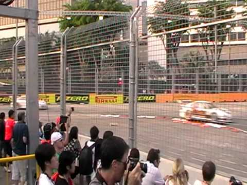 Singapore Porsche Carrera Cup Asia 2011 -- First Race-near Esplanade