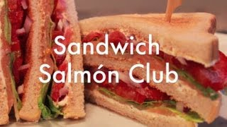 Club Sandwich con salmón