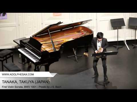 Dinant 2014 TANAKA Takuya (First Violin Sonata, BWV 1001 Presto by J S Bach )